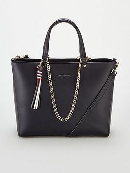 tommy-hilfiger-classic-leather-tote-bag--nbspnavy