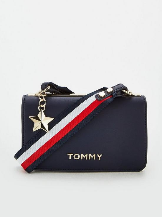 0ffb1e9b1d14 Tommy Hilfiger Tommy Statement Crossover Bag - Navy | very.co.uk