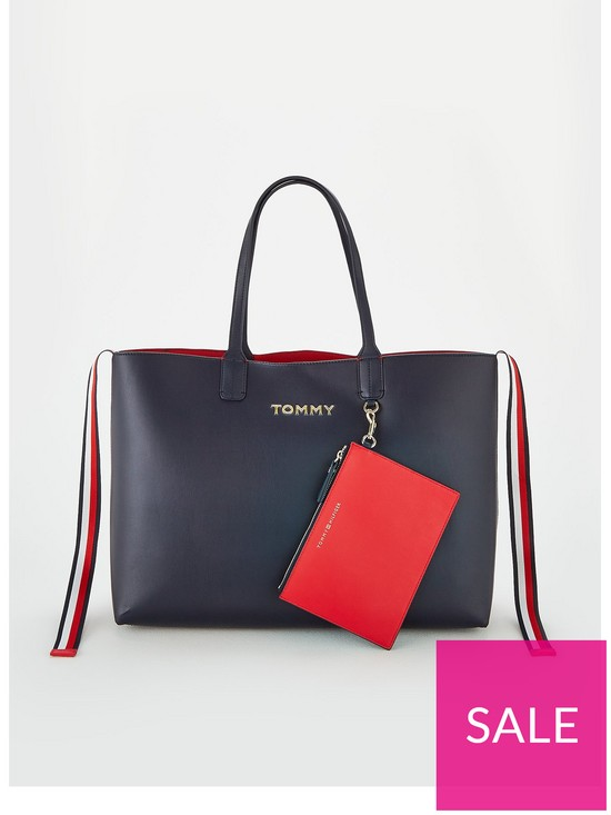 599f5a5bb3 Tommy Hilfiger Iconic Tommy Tote - Navy | very.co.uk
