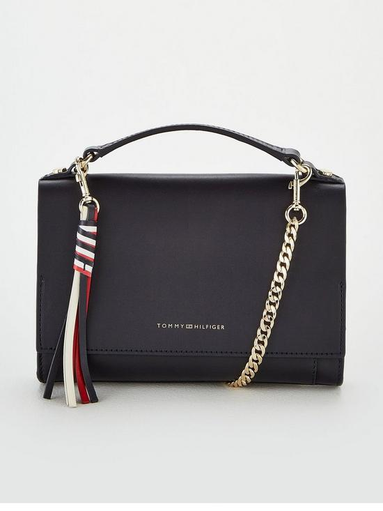 1844251f Tommy Hilfiger Classic Leather Crossover Bag - Navy | very.co.uk