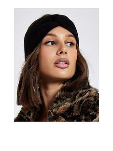 river-island-river-island-knot-front-knitted-headband-black