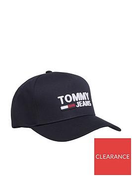tommy-hilfiger-logo-cap-black