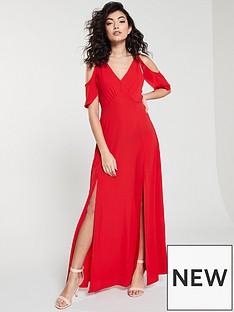 ax-paris-cold-shoulder-maxi-dress