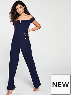 ax-paris-button-front-notch-jumpsuit