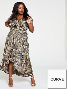 ax-paris-curve-ax-paris-curve-high-low-hem-tropical-print-wrap-dress