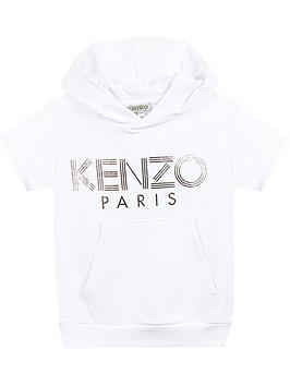 kenzo-girls-metallic-logo-short-sleeve-hoodie