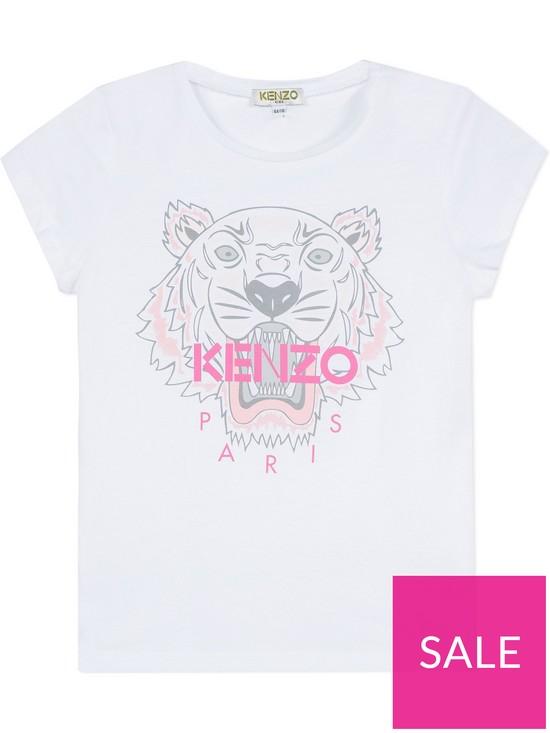 75c74562bd52 Kenzo Girls Classic Tiger Short Sleeve T-shirt   very.co.uk