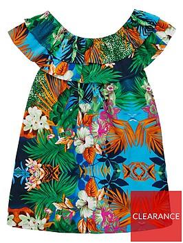 v-by-very-girls-bardot-tropical-print-dress-multi