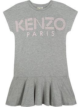kenzo-girls-logo-jersey-ruffle-dress