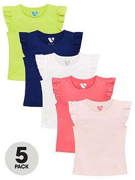 mini-v-by-very-girls-5-pack-rib-vests-with-broderie-sleeve-trim-multi