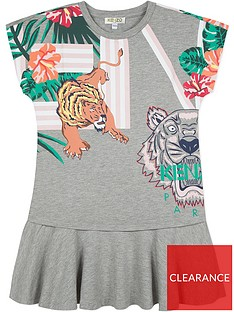 kenzo-girls-hawai-tiger-print-ruffle-dress-grey-marl