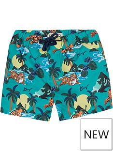 kenzo-boys-hawai-tiger-print-swim-shorts