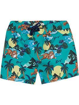 kenzo-boys-hawai-tiger-print-swim-shorts