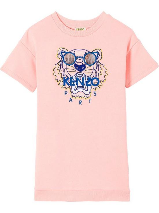 27a32a25 Kenzo Girls Embroidered Tiger Sweat Dress | very.co.uk