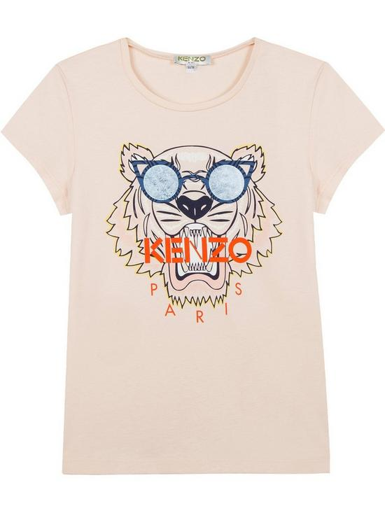 43863ae4 Kenzo Girls Embroidered Tiger Short Sleeve T-shirt | very.co.uk