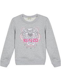 kenzo-girls-classic-tiger-embroiderednbspsweatshirt-grey