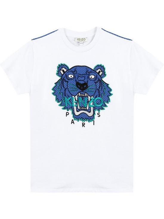 f94dd506f2b0 Kenzo Boys Embroidered Tiger Short Sleeve T-shirt