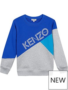 kenzo-boys-colourblock-logonbspsweatshirt