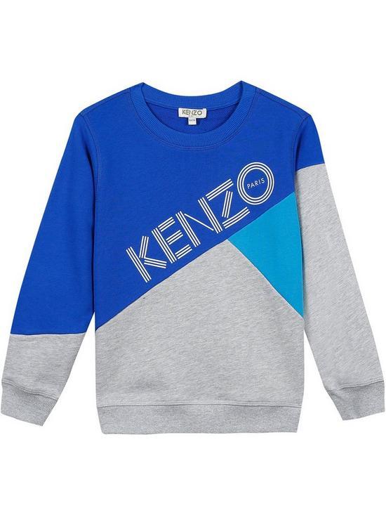 e0a8436cf82 Kenzo Boys Colourblock Logo Sweatshirt