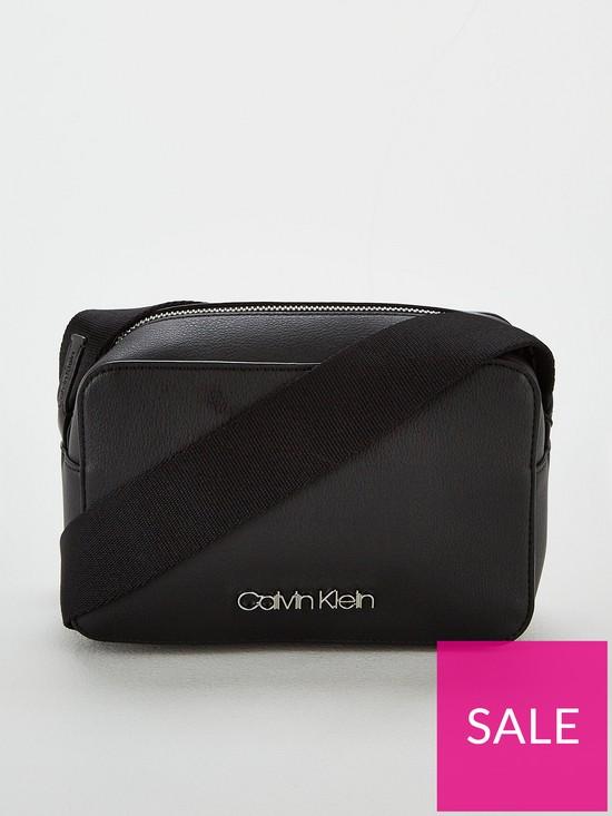 509df4cf6d Calvin Klein Strap Small Camera Bag - Black | very.co.uk
