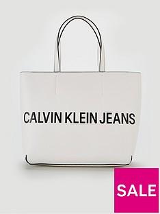 b85fea2d1b98e Calvin Klein Tote Bag - White