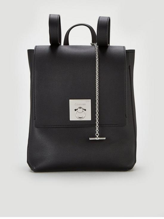 14abb6caf48 Calvin Klein CK Lock Backpack - Black | very.co.uk