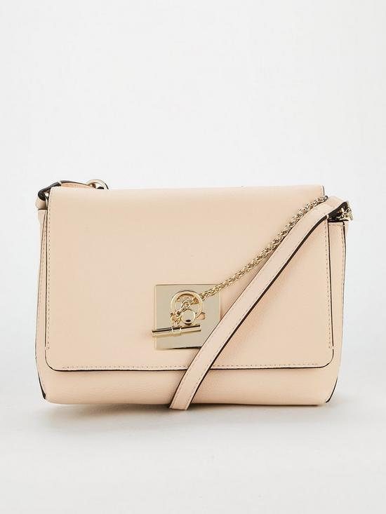 7656bb526ee Calvin Klein CK Lock Medium Flap Buckle Cross Body Bag - Nude Pink |  very.co.uk