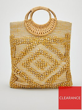 v-by-very-jena-feature-handle-bobble-textile-tote