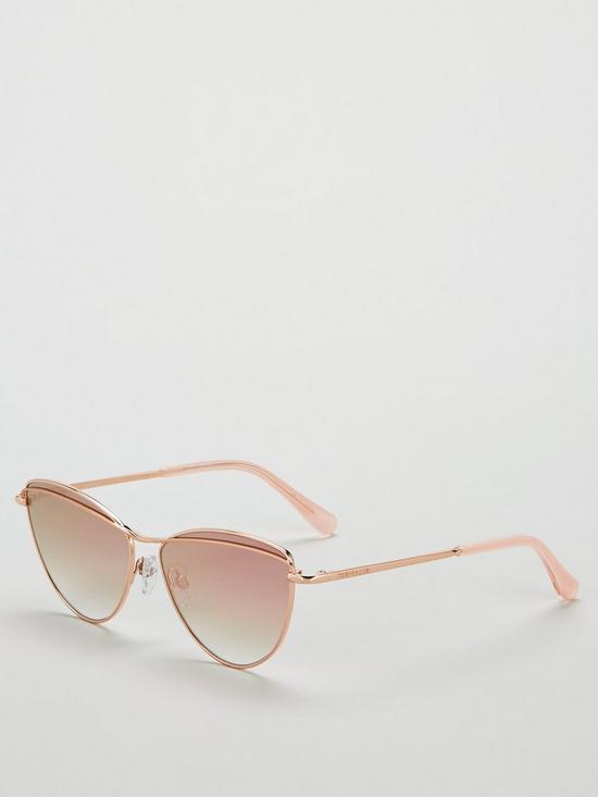 1555340132c4 Ted Baker Reine Cateye Sunglasses - Rose Gold