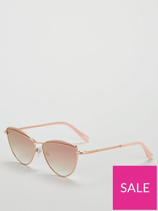 d42cd70de7d4 Ted Baker Reine Cateye Sunglasses - Rose Gold   very.co.uk