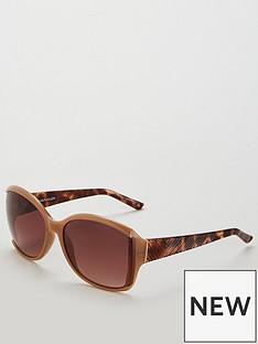 karen-millen-oversized-nude-sunglasses