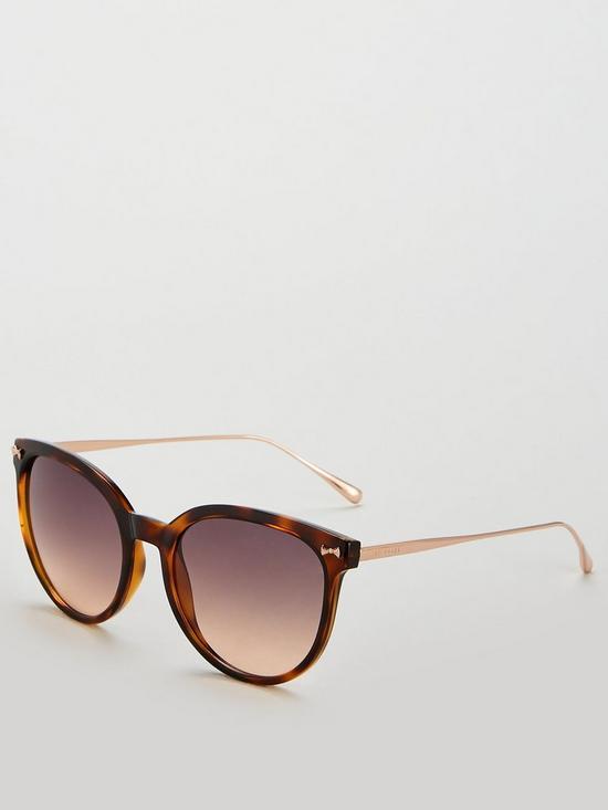 6cc4e482fa1c Ted Baker Maren Oval Sunglasses - Tortoiseshell