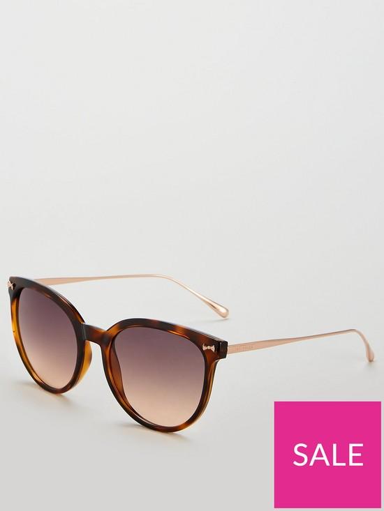 7bab70cebbf9 Ted Baker Maren Oval Sunglasses - Tortoiseshell   very.co.uk