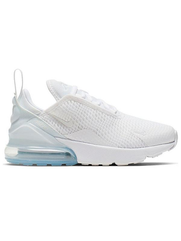 Air Max 270 Childrens Trainers WhiteSilver