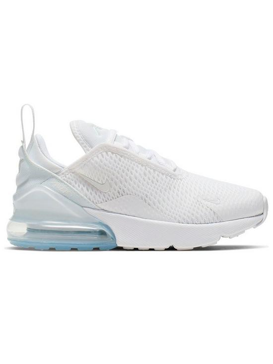 new concept 064a3 c0f70 Air Max 270 Childrens Trainers - White/Silver