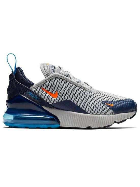 buy popular 84ed0 003c0 Air Max 270 Childrens Trainers - Grey/Orange