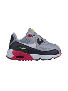 new product ffab3 b4456 Nike Air Max 90 Mesh Infant Trainers - Grey Pink