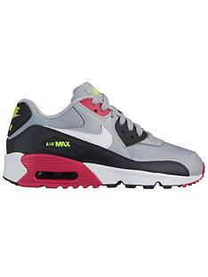 nike-air-max-90-mesh-junior-trainers-greypink
