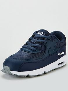 online retailer 9628f ab9ea Nike Air Max 90 Mesh Infants Trainers - Navy Blue