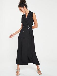 karen-millen-soft-belted-tux-dress-black
