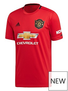 468731639 adidas Manchester United 19 20 Home Shirt - Red