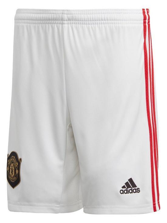 b0918edacb Manchester United Junior 2019/20 Home Football Shorts - White