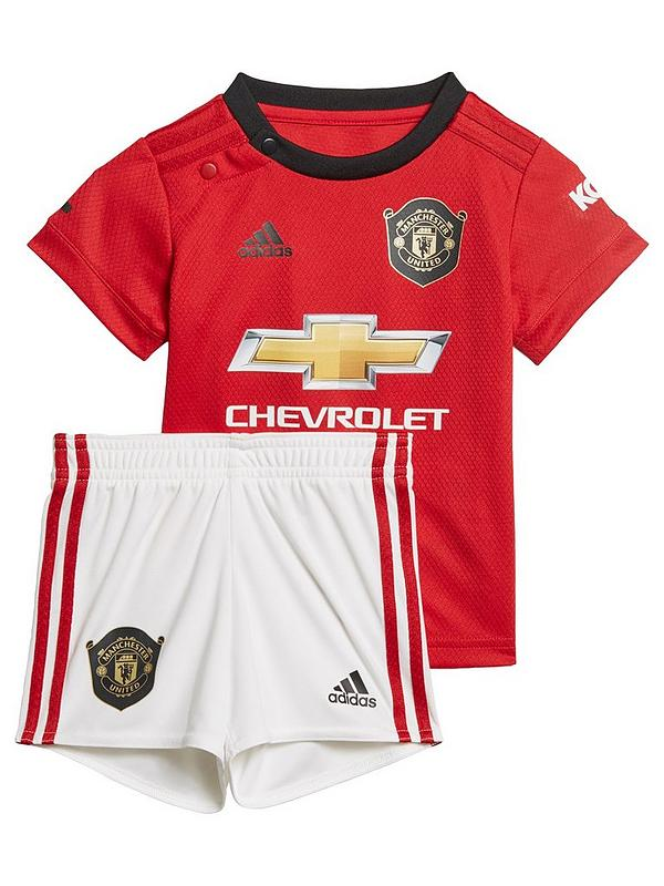 uk availability 68022 5a8f6 Manchester United 2019/20 Home Baby Kit - Red