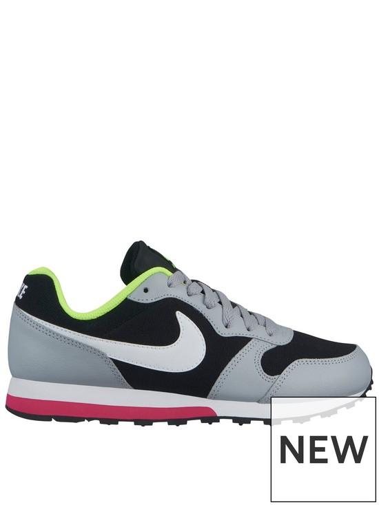 7f939100baf Nike MD Runner 2 Junior Trainers - Black White Pink
