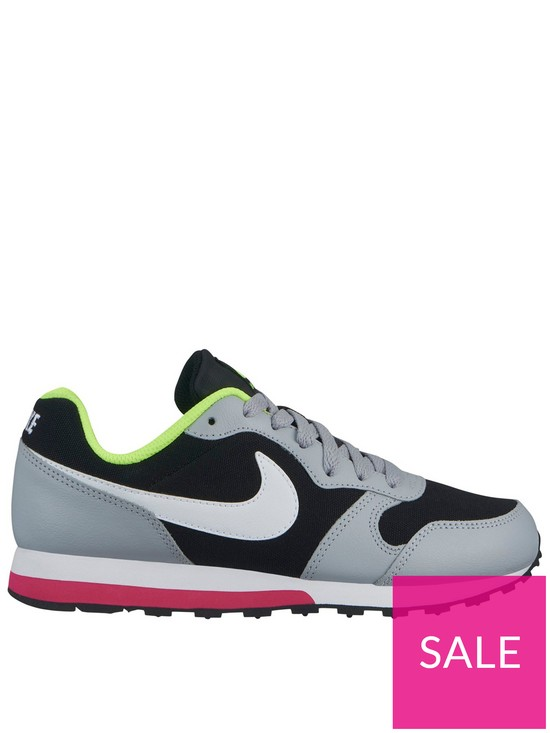 finest selection 485b6 2e96f Nike MD Runner 2 Junior Trainers - Black White Pink
