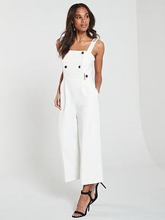 b77fa0009e KAREN MILLEN Sleek And Sharp Summer Jumpsuit - Ivory