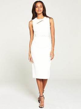 karen-millen-sleeveless-contour-dress-ivory