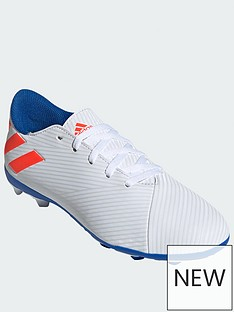 7752e6e5b adidas Junior Nemeziz Messi 18.4 Firm Ground Football Boots - White