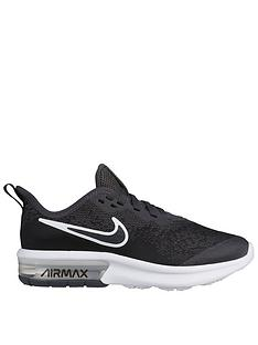new style 6ae3f 0cd34 Nike Air Max Sequent 4 Junior Trainers - Black Grey