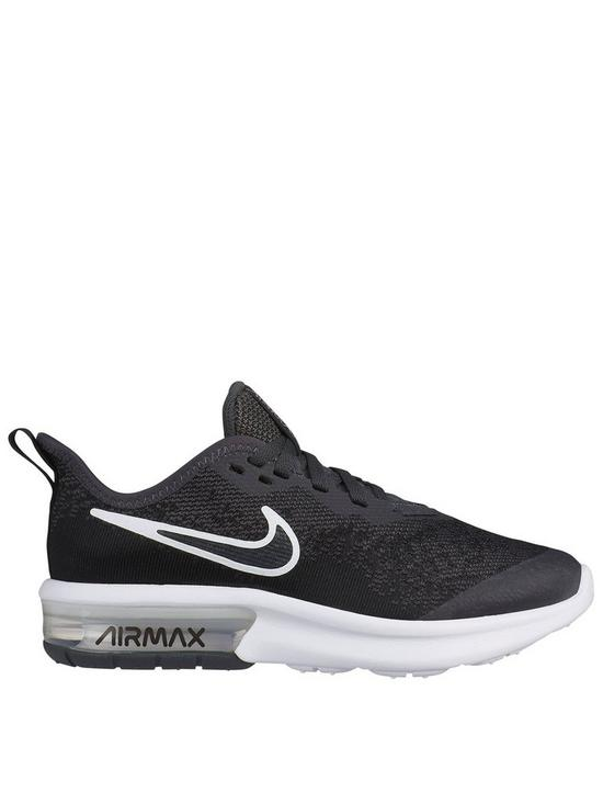 new style 0b205 b4ef8 Nike Air Max Sequent 4 Junior Trainers - Black Grey